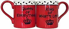 Enesco Queen of Everything Kaffeebecher-Set für