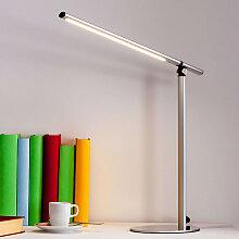 Enge silberne Schreibtischlampe inkl. LED - Kolja