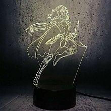Engel 3D Nachtlicht Kreative Elektrische Illusion