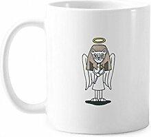 Engel Bastet Wing Halo Star Tasse Keramik Kaffee