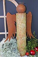 Engel Baumstamm 50cm Rost Gartendeko Edelros