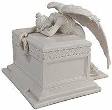 Engel der Figur Trauer Statue weiß Urne