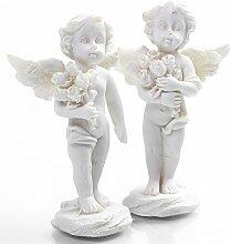 Engel Figur Engelsfigur mit Rosen-Strauß 7 cm