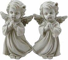 Engel grau betend 3 Paare Trauerengel Grabengel