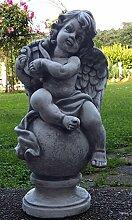 Engel mit Harve Figur Skulptur schöne Grabbeigabe ca. 15 kg schwer