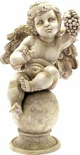 Engel mit Trauben cm.20x 19cm Höhe aus Harz
