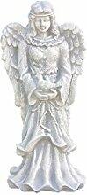 Engel mit Vogel, Figur aus Steinguss
