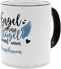 Engel - Personalisierter Kaffeebecher (Farbe: