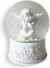 Engel Schneekugel Schutzengel / Glücksengel