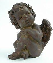 Engel - Skulptur Figur Braun Putto Putte Putten Engelsfigur Engelfigur NEU Gartendeko