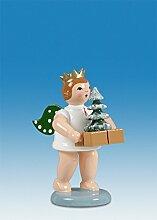 Engelfigur Geschenkeengel mit Baum mit Krone Höhe
