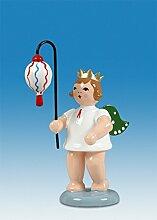 Engelfigur Lampionengel mit Lampion Oval mit Krone