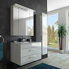 ENGELLAND Bad-Möbel Set mit 90er Waschbecken,