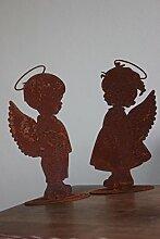 Engelpaar Bub und Mädchen aus Metall