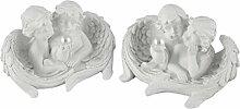 Engelpaar in Wolke mit Perle weiß 4 Modelle