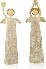 Engelpaar Rana - Engel der Liebe mit goldenem Herz