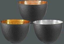 Engels Kerzen Riesige Kerzenschale TIMPANO Schale gehämmert a. schwarz i. Kupfer emailliert / Durchmesser 40 cm / SUPER SONDERPREIS UVP: 129 EURO