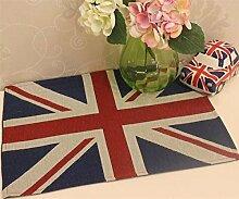 England Flagge Tisch-Sets Baumwolle Bettwäsche–memorecool Haustierhaus Gesunde Farbe weben kein Verblassen 1Stück 33x 45,7cm, baumwolle, only 1 placemat, 13x18inch