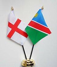 England & Namibia Freundschaft Tisch Flagge Display 25cm (25,4cm)