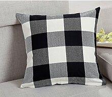 England plaid office sofa pillow,office pillow cover sofa cushion-B 55x55cm(22x22inch)VersionB