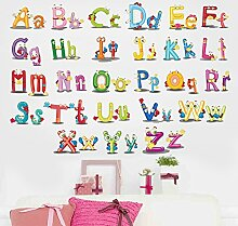 Englisch Brief Wandaufkleber Kindergarten