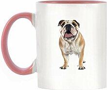 Englisch Bulldog Bild Design zweifarbige Keramik