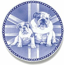 Englisch Bulldog lekven Design Hund Teller