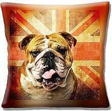 Englisch Bulldog Union Jack Retro-design - 40.6cm