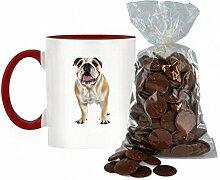 Englisch Bulldogge Bild Design zweifarbige Keramik