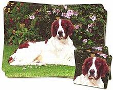 Englisch Setter Dog Zwillings Platzdeckchen und