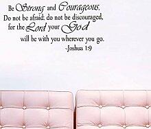 Englisch Sprüche Joshua1: Aufkleber 9religiou Wand