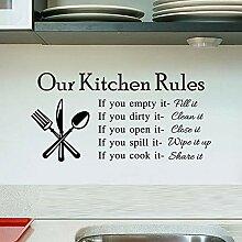 Englisch unsere Küche Wandaufkleber für