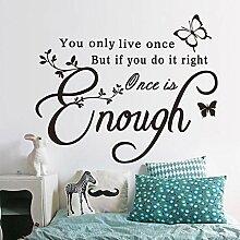 Englisch Zitat Wandaufkleber für Wohnzimmer