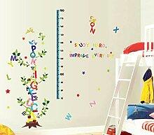 Englische Buchstaben Baum Höhe Aufkleber Baby