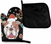Englische Bulldogge Weihnachtsgeweih Hundehirsch