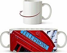 Englische rote Telefonzelle Effekt: Zeichnung als