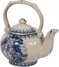 Englische Teekanne L14xPR11xH14 cm aus weiß und