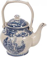 Englische Teekanne L17xPR11xH20 cm aus weiß und
