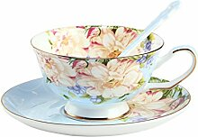 Englischen Stil Garten am Nachmittag Tee Tee-Set Europäische Keramik Kaffeetasse Haushalt rote Tassen-I