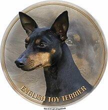 Englischer Toy Terrier Aufkleber 25 cm