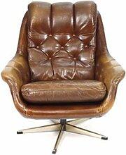 Englischer Vintage Sessel mit Skai Bezug