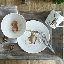 Englisches Frühstücksgeschirr-Set mit Waldtieren