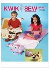 englisches Schnittmuster KwikSew 4047 Kinder-Schlafsack 61x132cm