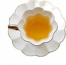 English Floral Design Goldener Griff Kaffeetasse