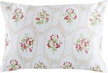 English Home 10002156001 Berry Garden Pillow cover 50x70 cm Baumwolle, Beige, 50 x 70 cm