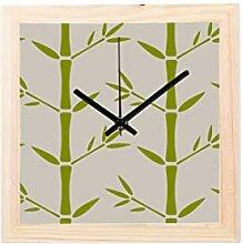 Enhusk Bambus Grünes Blatt Pflanze Nicht tickt