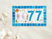 Enid18Bru Hausnummernschild Mosaik-Holzschild