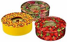 ENIGMA Citronella-Kerze in Blechdose, 3 Stück, mehrfarbig