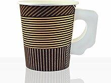 Enjoy Coffee to go Becher mit Henkel 1000 Stk, 0,18l (7oz) beschichte