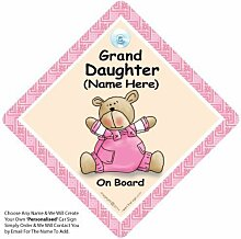 Enkelin an Bord,Pink Quilt ,Personalisiert Baby On